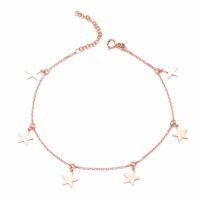 China Stars 925 Sterling Silver Charm Anklet Bracelet on sale
