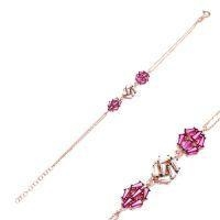 China Popular items for 925 Sterling Silver Baguette Bracelets With Rose Gold Plated on sale