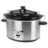 China Kalorik 8-qt. Stainless Steel Digital Slow Cooker with Locking Lid on sale
