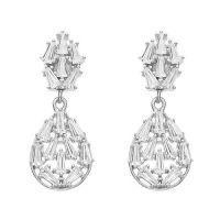 China Cheap chinese 925 sterling silver beguette earring on sale