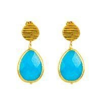 China 925 Silver Gemstone Earring with famous brands jewelry on sale