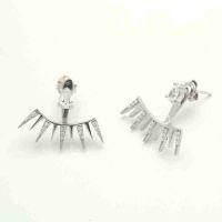 China 925 Sterling Silver Ear Jackets Earring Famous Brands Jewelry on sale