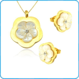 China SE01082 Charming Flower Shaped Pendants and Earrings Jewelry Set on sale