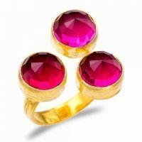 China fashion jewelry unique design 925 silver ruby gem stone ring on sale