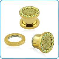 TP012257 Stainless Steel Ear Plug Tunnel Ear Expander Punk Men Women Earrings Jewelry earring plugs