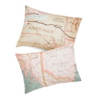 China Map Your Dreams Pillowcase Set on sale