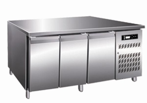 China T18R Refrigerator Bench Of Stainless Steel Food Chiller Kitchen Equipment 0~10℃ on sale