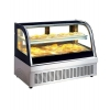 China Cruve Glass Table Top Pastry Showcase for sale