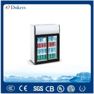China Dukers 85L Sliding Glass Door Countertop Drink Cooler on sale