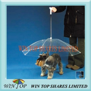 China Clear PVC, POE, EVA Pet Umbrella for dog and cat on sale