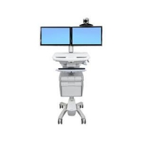 StyleView Telepresence Cart, Dual Monitor