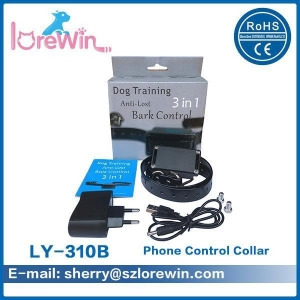 China Iphone Remote Shock Collar Wifi Dog Training Collar 3 Training Methods on sale