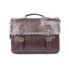 China Affordable snap closure leather briefcase for sale