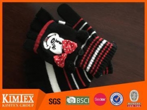 China Brand colorful acrylic Half Finger Glove With Mitten-cover on sale