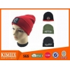 China Beanie custom cuff durable promotional knitted acrylic hat for sale