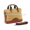 China business bag for men canvas and leather trim for sale