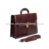 China leather business briefcase for men for sale