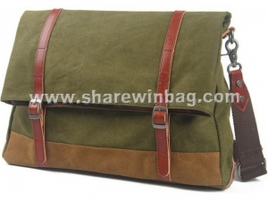 Quality contrast colors canvas postal bag for sale