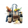 China cotton wine bag with bottle cooler holder for sale