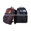 China leather trim nylon computer bag upto 15.4 inch for sale