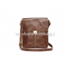 China men's brown crossover leather bag suitable for ipad for sale