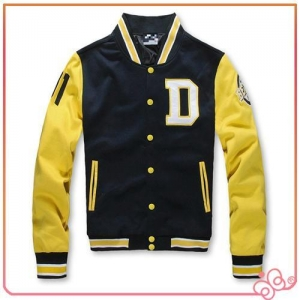 China 2015 top quality letterman varsity cheap custom made baseball jacket on sale