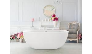China Freestanding Bathtubs Aquatica Corelia-Wht (PureScape 617BM) Freestanding Solid Surface Bathtub on sale