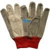 China BGCW105-Mens Cotton Canvas Work Gloves With Dots for sale