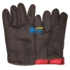 China BGCJ102-Mens Red Lined Brown Cotton Jersey Gloves for sale