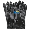 China Black PVC Fully Smooth Dipped Chemical-Resistant-Gloves BGPC201 for sale
