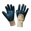 China Blue Heavyduty Nitrile Coated Gloves-Knit Wrist (BGNC201) for sale