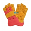 China Excellent Golden Cow Split Leather Palm Safety Gloves (BGCL203) for sale