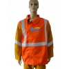 China BCFR102-Leather Sleeves FR Cotton Fire Retardant Clothing with Reflective Tape for sale
