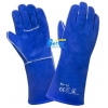 China High Quality Blue Cow Split Leather Welder Gloves(BGCW204) for sale