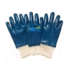 China Comfortable Medium-Duty Blue Nitrile--Fully-Coated Safety Gloves(BGNC202) for sale