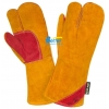 China Deluxe Aramid Fiber Sewn Cow Split Leather Welding Gloves(BGCW328) for sale