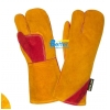 China Deluxe Aramid Fiber Sewn Cow Split Leather Welding Gloves(BGCW328W) for sale