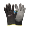 China 13G Fiberglas/Nylon seamless knit liner Cut Resistant Work Gloves with PU Palm for sale