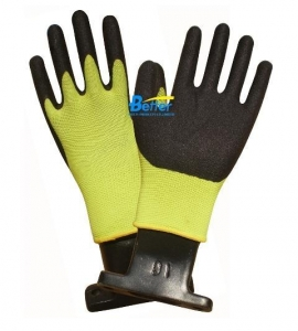 China Dexterity Sandy-Finished Nitrile Palm-coated-Gloves (BGNC310) on sale