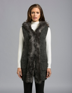China LADIES FAUX FUR SWEATER Product Numbers:11639FFV on sale