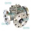 China Titanium three-way ball valve for sale