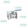 China Q41F type three chip din PN16 ~ PN40 flanged ball valves for sale