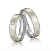 China Hot Sale New Design Fashion Stainless Steel Ring Cute Couple Rings Set for sale