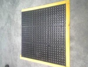 China Rubber Non-Slip Mat Mat Edge(PVC yellow) on sale