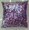 China Sequin Embroidery Cushion Fashion Sequin Pillow (XPL-01) on sale