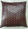 China Sequin Embroidery Cushion Fashion PU Decorative Pillow (XPL-12) on sale