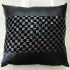 China Sequin Embroidery Cushion Fashion PU Decorative Pillow (XPL-18) on sale