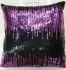China Sequin Embroidery Cushion Fashion Decorative Pillow (XPL-06) on sale