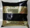 China Sequin Embroidery Stripe Cushion Fashion Decorative Pillow (XPL-15) on sale