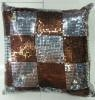 China Sequin Embroidery Cushion Fashion Decorative Pillow (XPL-14) on sale